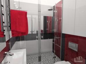 Mała łazienka 180 cm x 185 cm